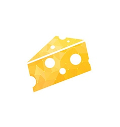 Cheese in abstract style vector image