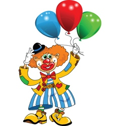 clown and balloon vector image