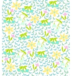 colorful background with spring flowers vector image vector image