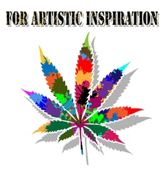 Colorful marijuana vector image
