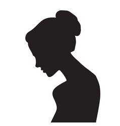 elegant lady face silhouette vector image vector image