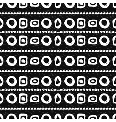 Geometric monochrome seamless pattern vector