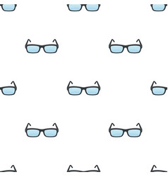 Glasses icon in cartoon style isolated on white vector