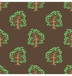 Green Tree Seamless Pattern vector image vector image