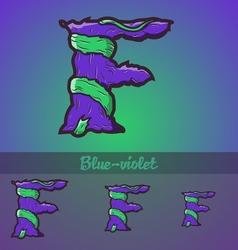Halloween decorative alphabet - f letter vector