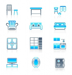 home furniture marine series vector image