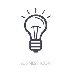idea lightbulb outline icon business sign vector image vector image