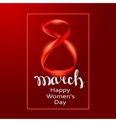 March 8 greeting card Background template vector image