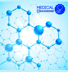 medical blue background vector image
