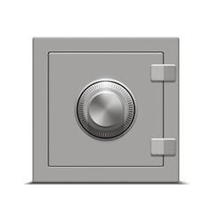 metal safe on white background vector image