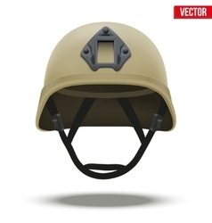 Military tactical helmet desert color vector
