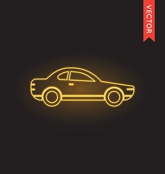 Neon car icon vector