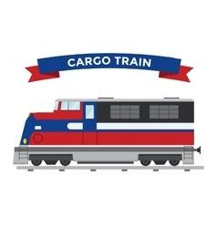 Passenger and transportation trains vector