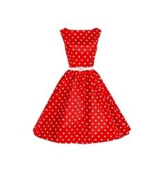 polka dot dress vector image vector image