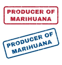 Producer of marihuana rubber stamps vector