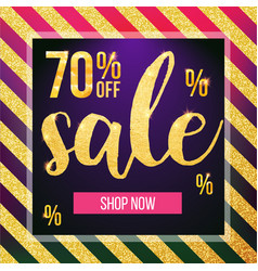 sale banner design template modern vector image vector image