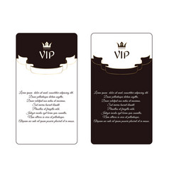 set of two elegant vertical discount cards of vector image vector image