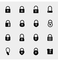 Simple padlock icons vector