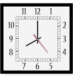 Square wall clock vector image vector image