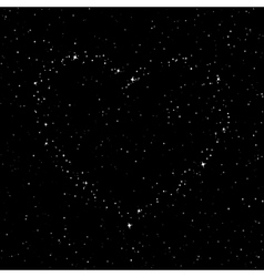 The heart of the stars in the sky vector