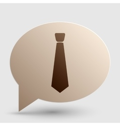 Tie sign brown gradient icon on vector
