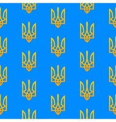 Ukranian trident seamless pattern vector