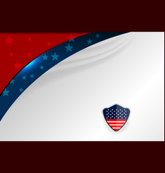 usa template design vector image