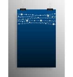Vertical Poster Garland Bright Bulbs vector image