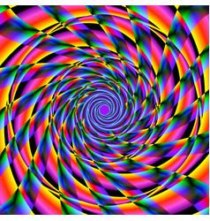 Vivid spinning shapes vector