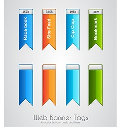 Web banner tag to use for social buttons vector