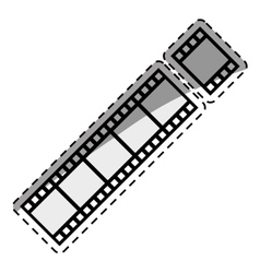 Movie roll equipment vector