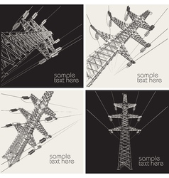 Power transmission line vector