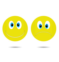 smiley cheerful and sad vector image
