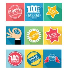 Nine guarantee icon vector
