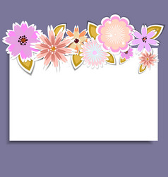 Template for birthdaywedding with flowers vector