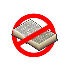 Stop read it is forbidden to education red vector