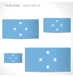 Federated states of micronesia flag template vector