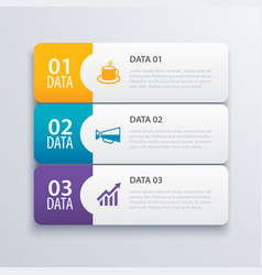 3 infographic tab index banner design and vector