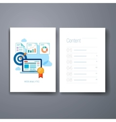 Modern marketing presentation and sales trends vector
