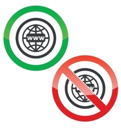 Global network permission signs vector
