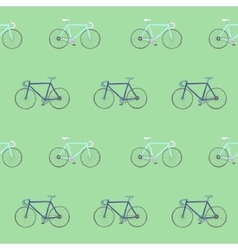 Seamless pattern with colorful racing bikes vector