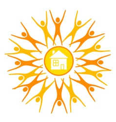 Abstract sun vector