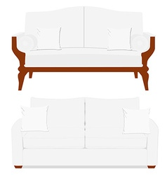 Classic and vintage furniture vector