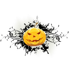 Grungy floral halloween background vector