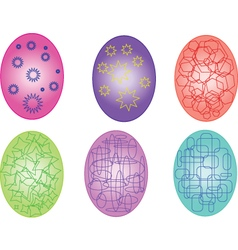 Easter eggs with geometric element vector