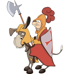 A knight and knightly donkey vector