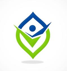 abstract people choice mark logo vector image