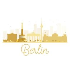 Berlin city skyline golden silhouette vector