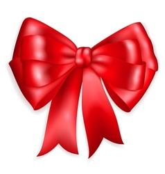 Big bow made of red ribbon vector