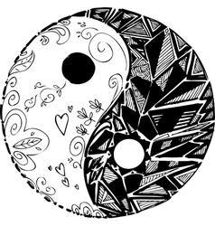 Black and white TAO symbol vector image